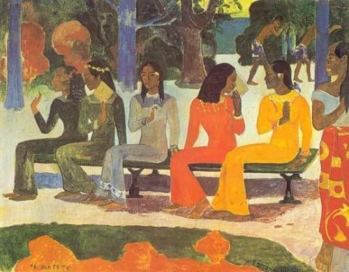 Gauguin Te Matete le marché 1892.jpg