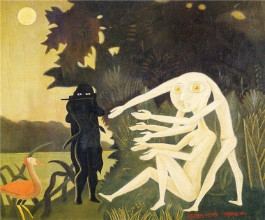 la charmeuse de serpents de Brauner.jpg