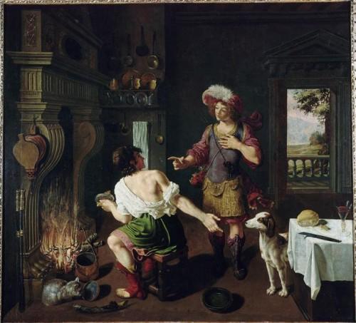 Michelcorneille-esaüe cédant à Jacob son droit d'ainesse pour un plat de lentielles 1630.jpg
