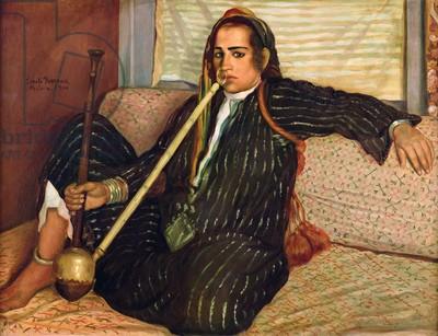 smoking haschisch Emile Bernard.jpg