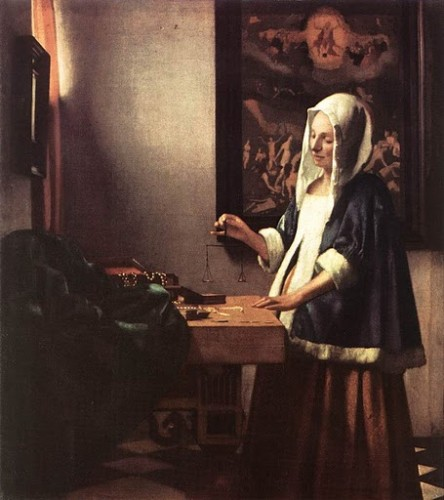 Vermeer, Woman Holding a Balance 1662.jpg