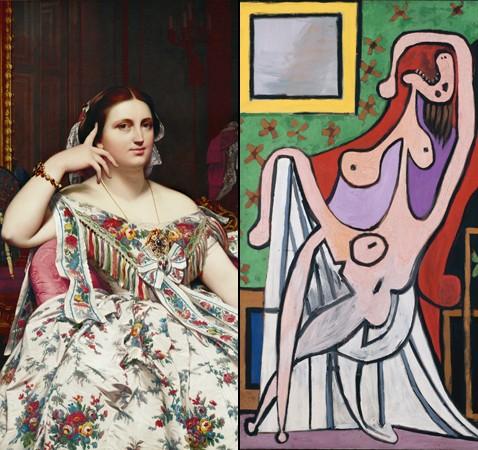 Ingres-MmeMoitessier-Picasso-Grandnuaufauteuilrouge.jpg