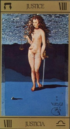 Salvador Dali - Justice From a Tarot Deck Designed by Dali.jpg