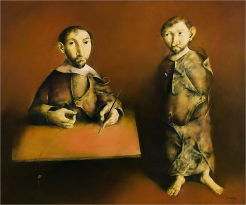 Georges Mazilu - Le peintre et l'apprenti 2004.jpg